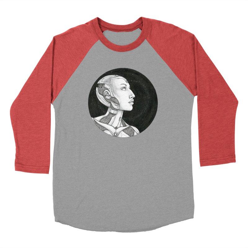 Third Eye Women's Baseball Triblend Longsleeve T-Shirt by Natalie McKean