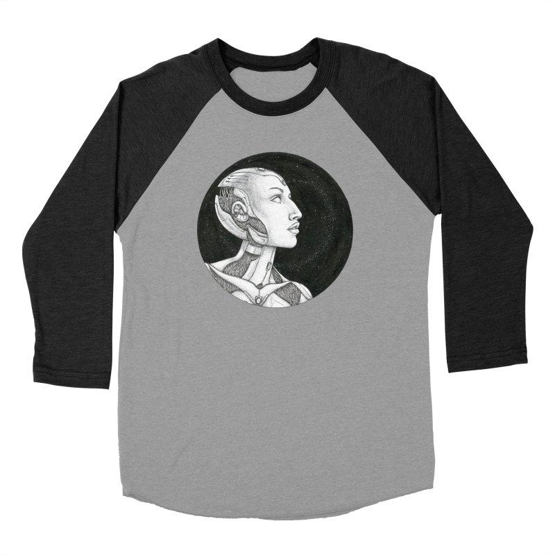 Third Eye Men's Baseball Triblend Longsleeve T-Shirt by Natalie McKean