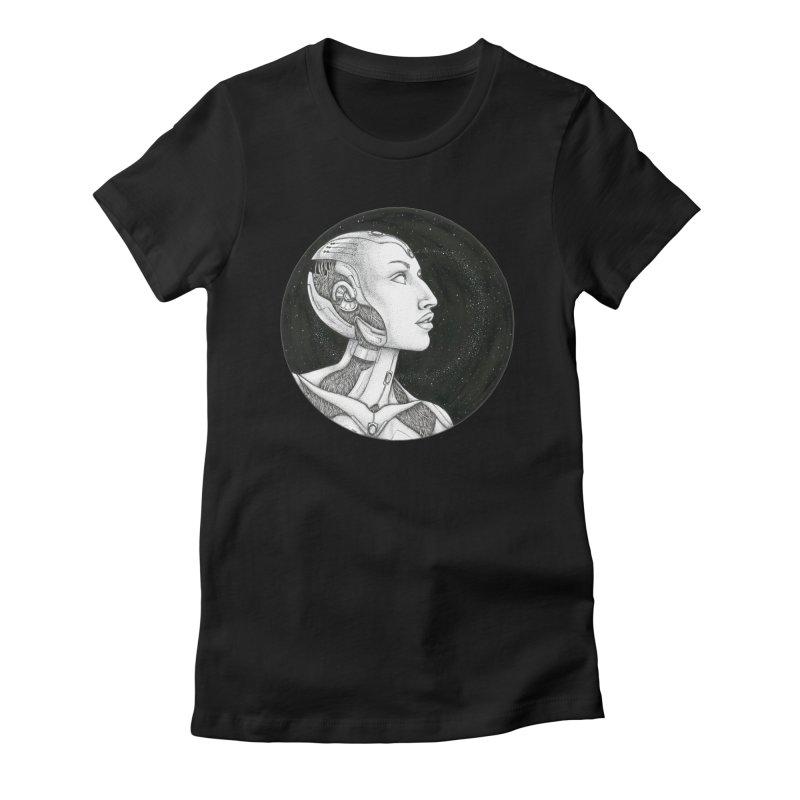 Third Eye Women's Fitted T-Shirt by Natalie McKean