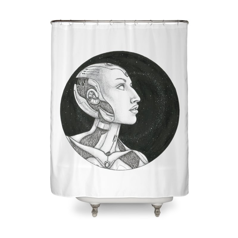 Third Eye Home Shower Curtain by Natalie McKean