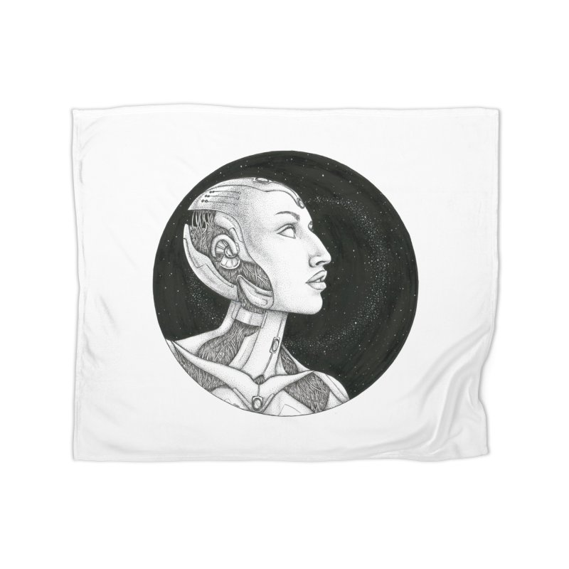 Third Eye Home Fleece Blanket Blanket by Natalie McKean