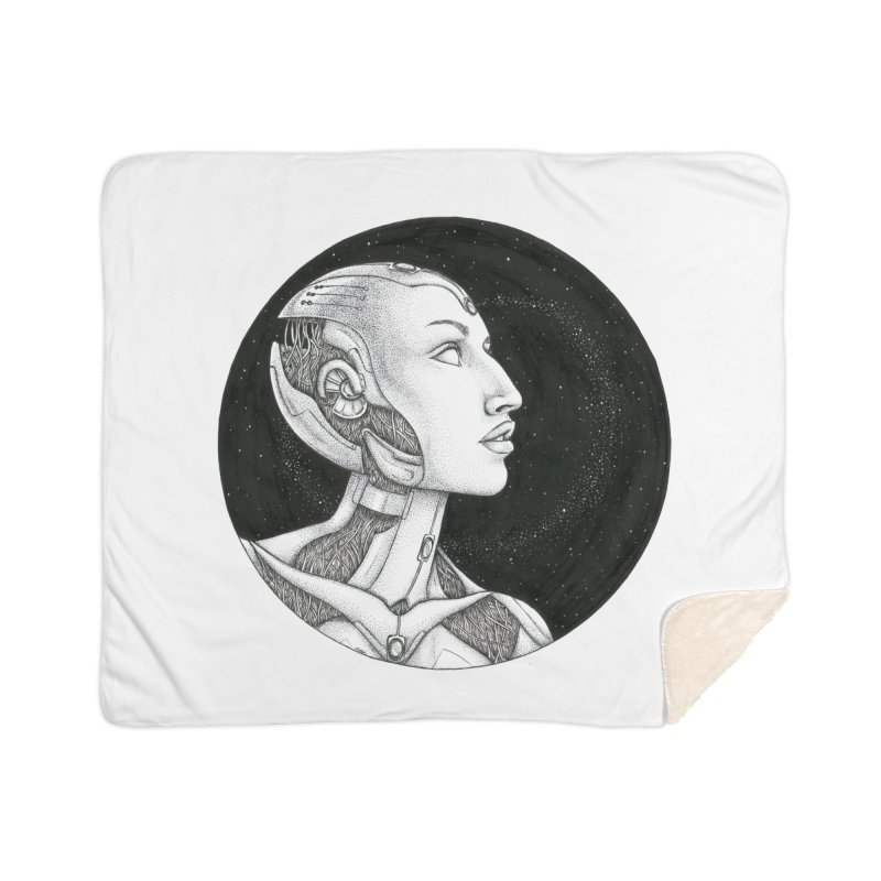 Third Eye Home Sherpa Blanket Blanket by Natalie McKean