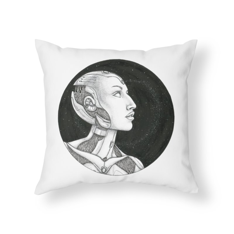 Third Eye Home Throw Pillow by Natalie McKean