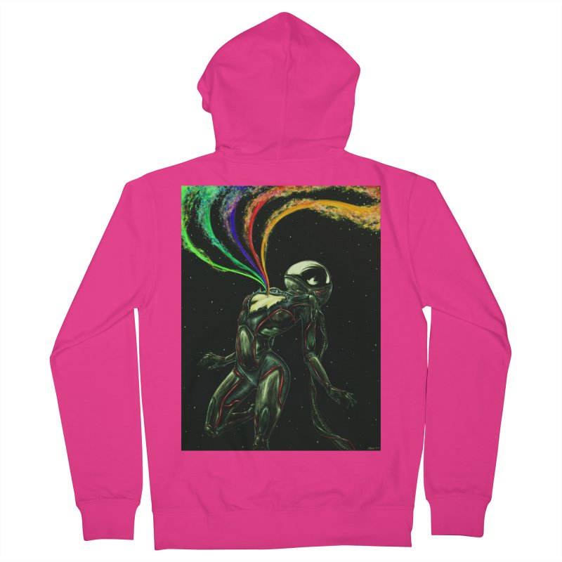 I Love You This Much Men's French Terry Zip-Up Hoody by Natalie McKean