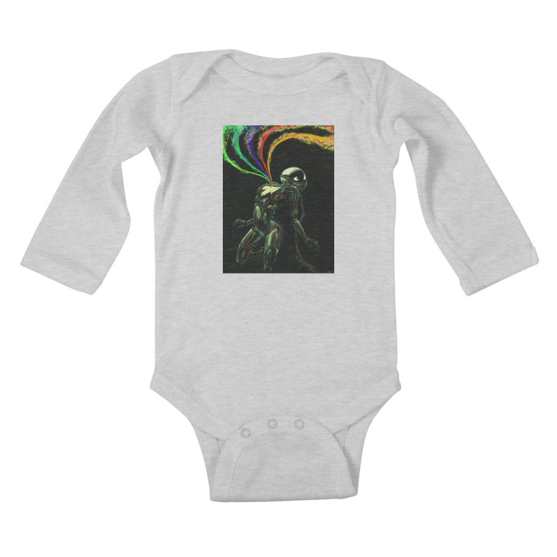 I Love You This Much Kids Baby Longsleeve Bodysuit by Natalie McKean