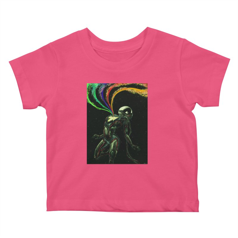 I Love You This Much Kids Baby T-Shirt by Natalie McKean