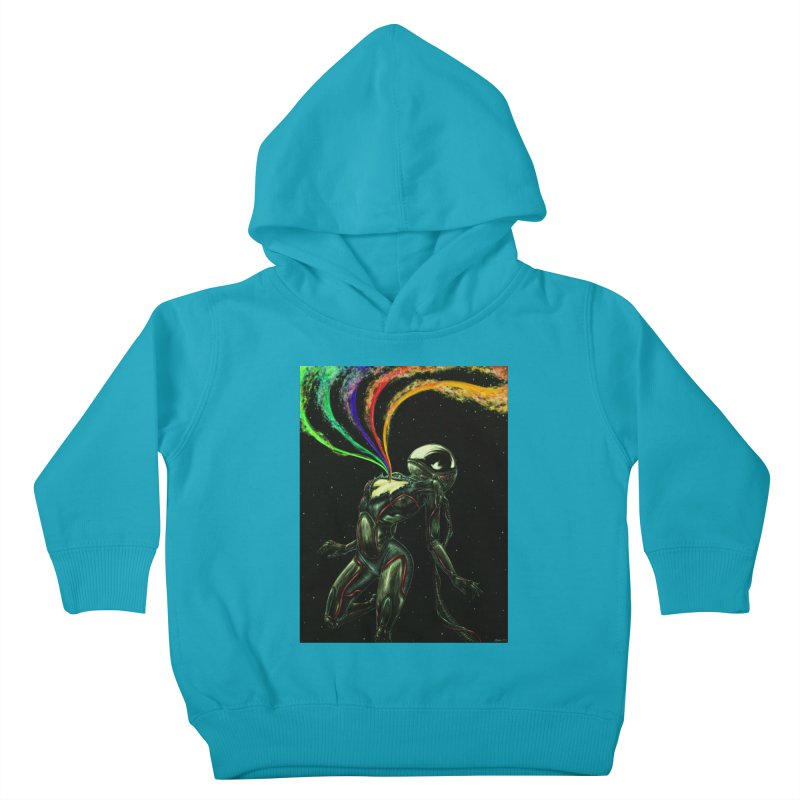 I Love You This Much Kids Toddler Pullover Hoody by Natalie McKean