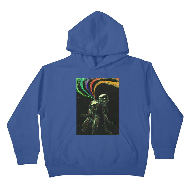 I Love You This Much Kids Pullover Hoody by Natalie McKean