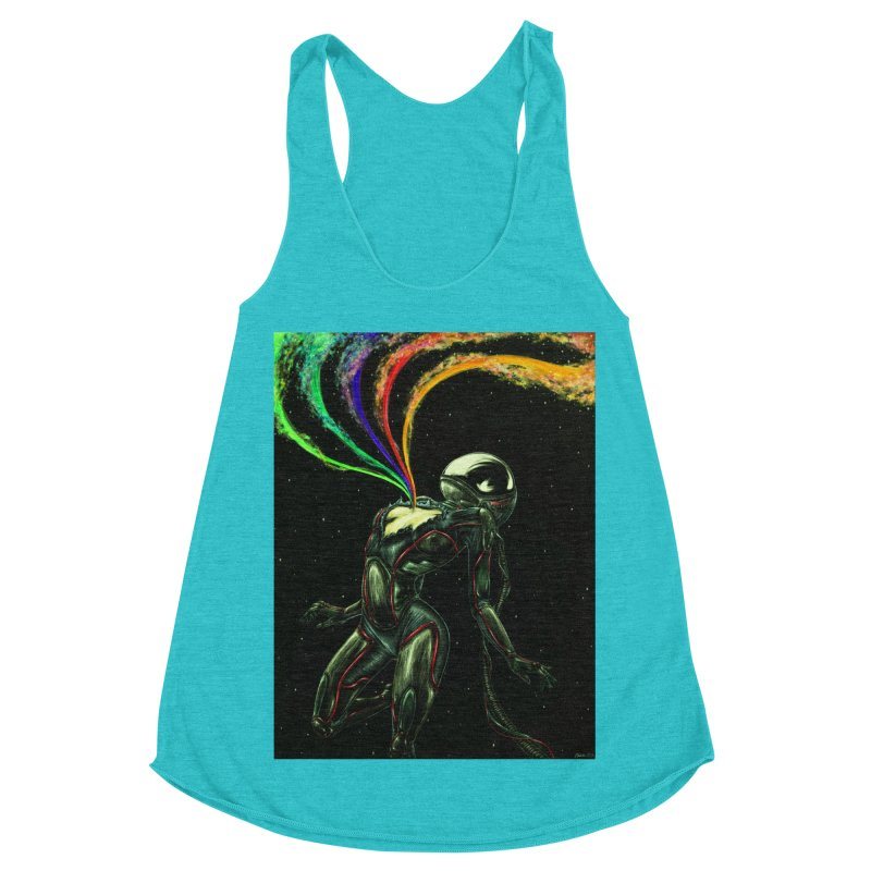 I Love You This Much Women's Racerback Triblend Tank by Natalie McKean