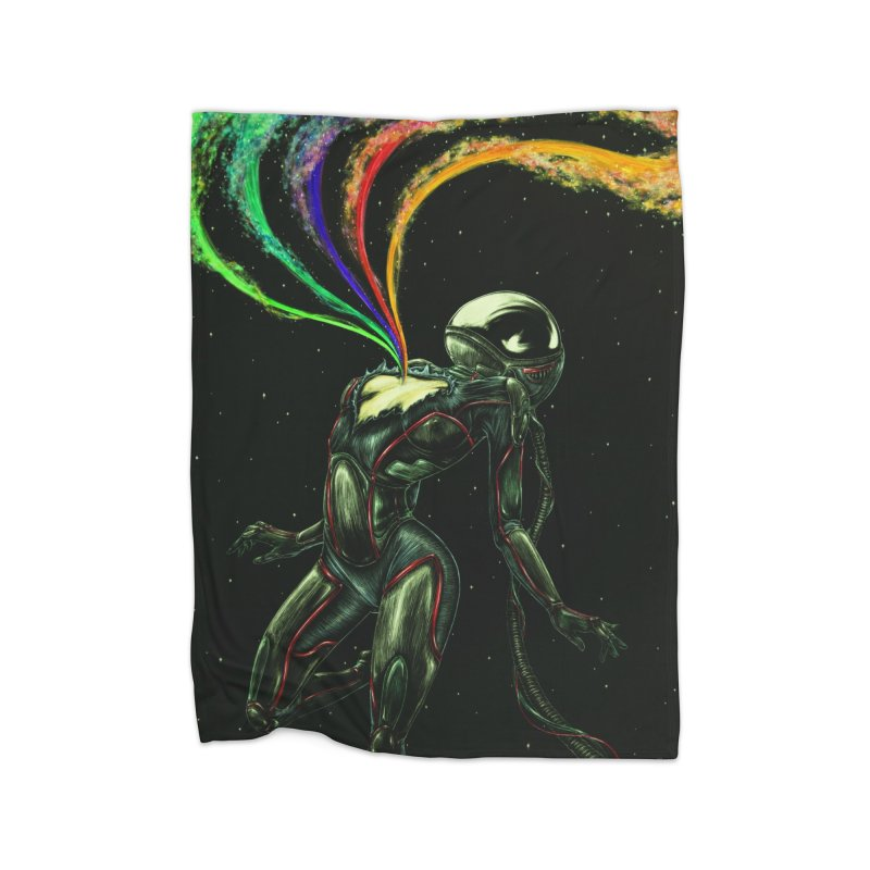 I Love You This Much Home Fleece Blanket Blanket by Natalie McKean