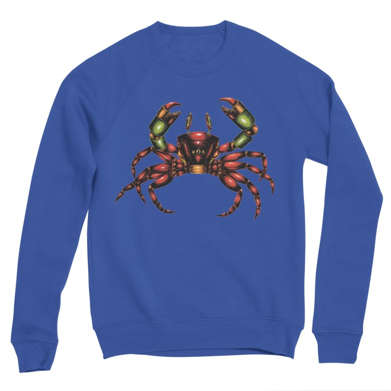 Robot Crab Men's Sweatshirt by Natalie McKean