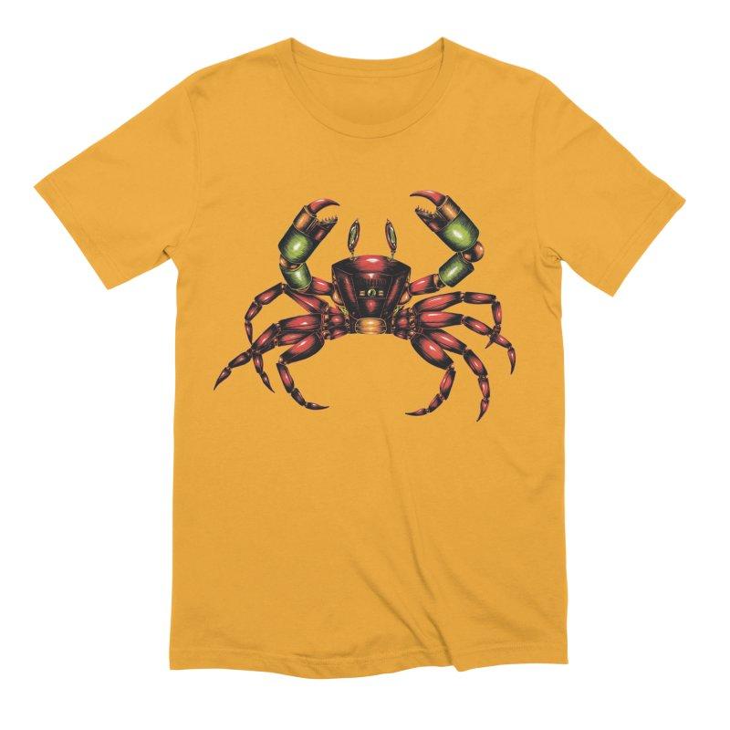 Robot Crab Men's Extra Soft T-Shirt by Natalie McKean