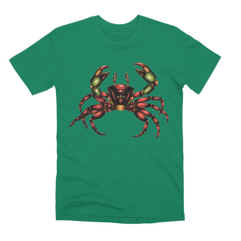 Robot Crab Men's Premium T-Shirt by Natalie McKean