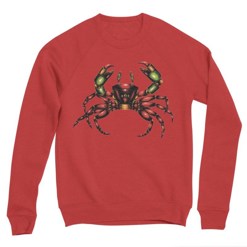 Robot Crab Women's Sponge Fleece Sweatshirt by Natalie McKean
