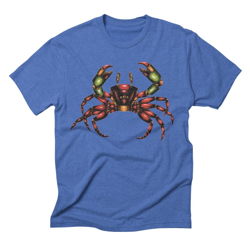 Robot Crab Men's T-Shirt by Natalie McKean