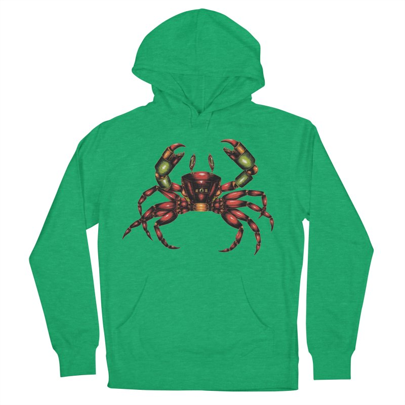 Robot Crab Women's French Terry Pullover Hoody by Natalie McKean
