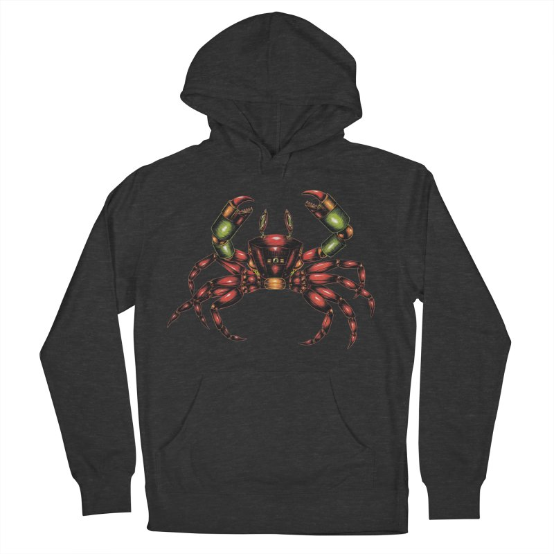 Robot Crab Men's French Terry Pullover Hoody by Natalie McKean