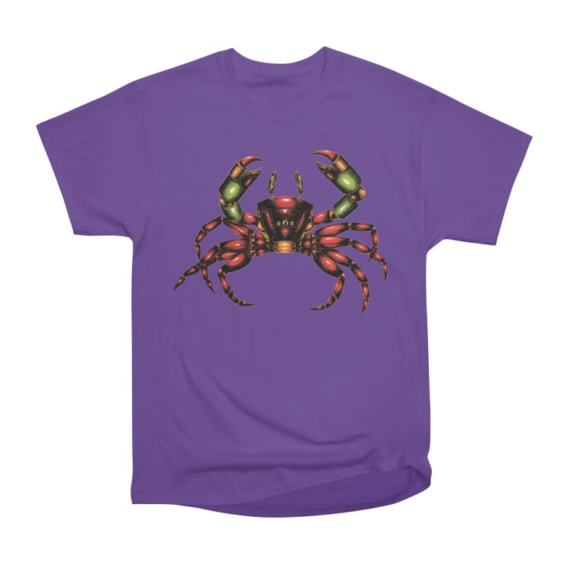 Robot Crab Men's Heavyweight T-Shirt by Natalie McKean