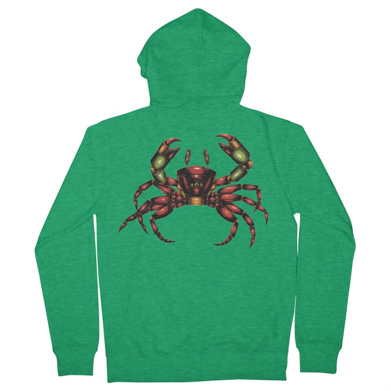 Robot Crab Women's French Terry Zip-Up Hoody by Natalie McKean