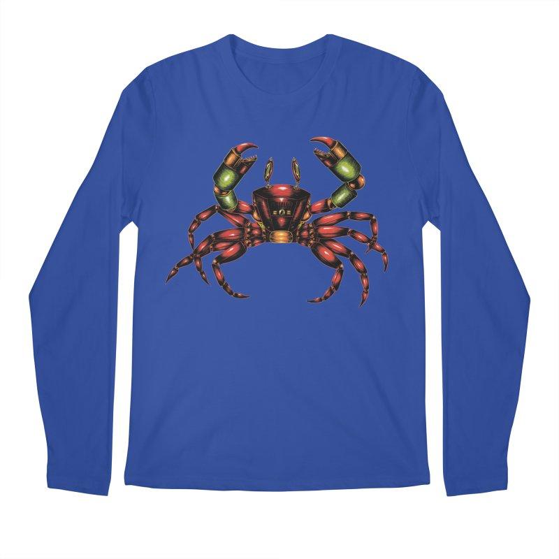 Robot Crab Men's Longsleeve T-Shirt by Natalie McKean