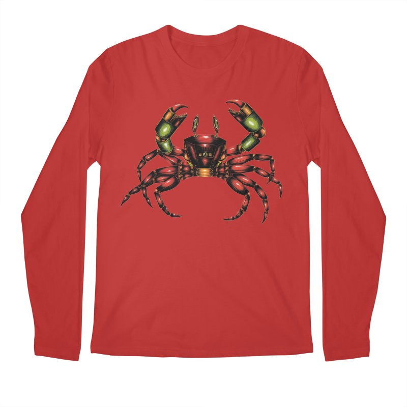Robot Crab Men's Regular Longsleeve T-Shirt by Natalie McKean