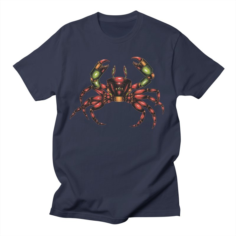 Robot Crab Men's Regular T-Shirt by Natalie McKean