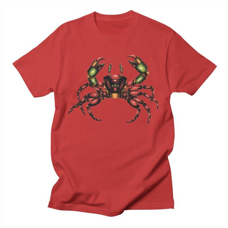 Robot Crab Men's Regular T-Shirt by Natalie McKean