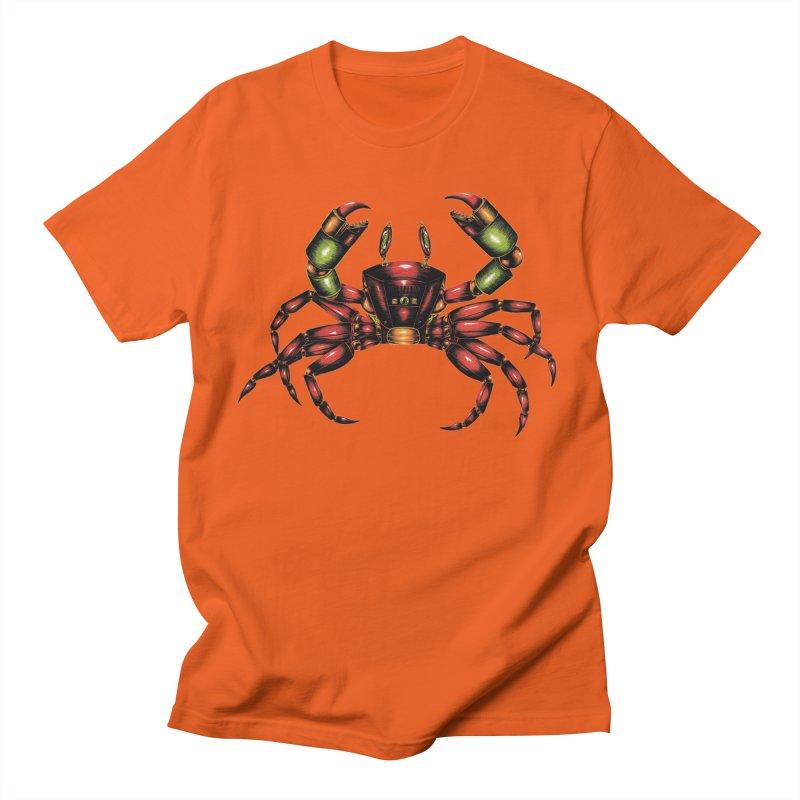 Robot Crab Women's Regular Unisex T-Shirt by Natalie McKean