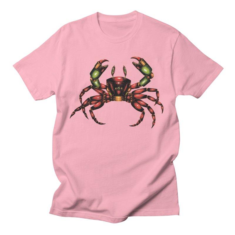 Robot Crab Men's T-Shirt by Natalie McKean