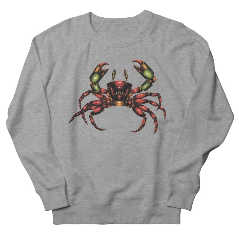 Robot Crab Women's French Terry Sweatshirt by Natalie McKean