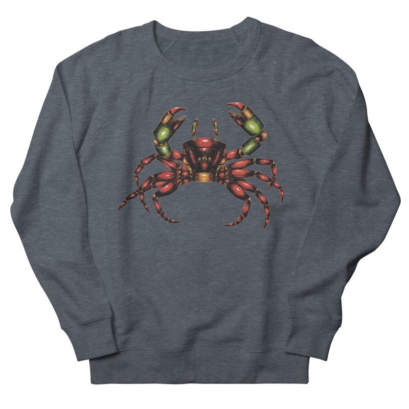Robot Crab Men's French Terry Sweatshirt by Natalie McKean
