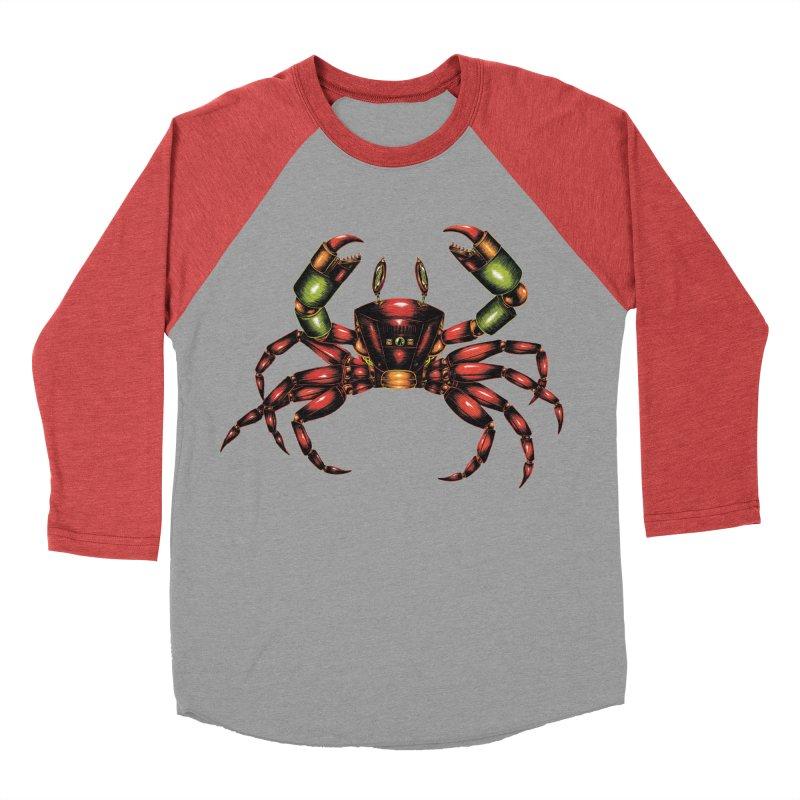 Robot Crab Women's Baseball Triblend Longsleeve T-Shirt by Natalie McKean