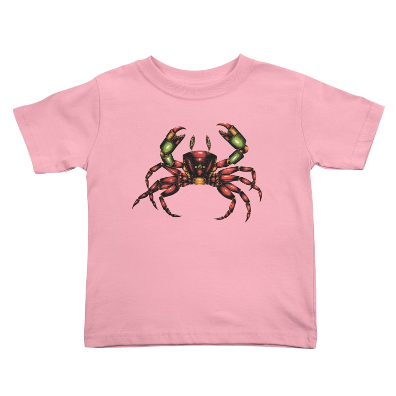 Robot Crab Kids Toddler T-Shirt by Natalie McKean