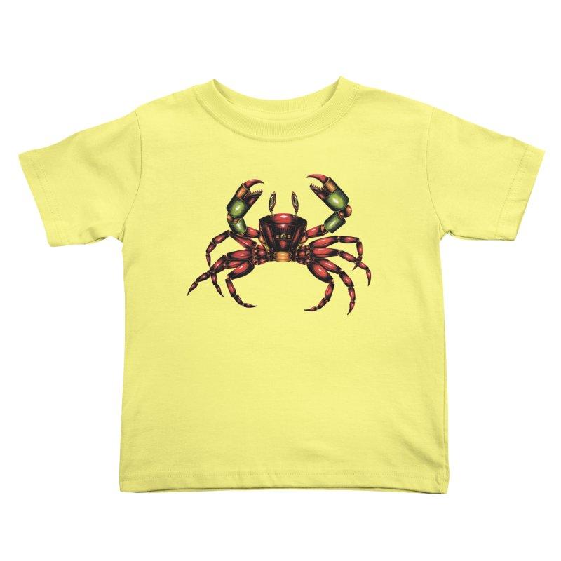 Robot Crab Kids Toddler T-Shirt by Natalie McKean
