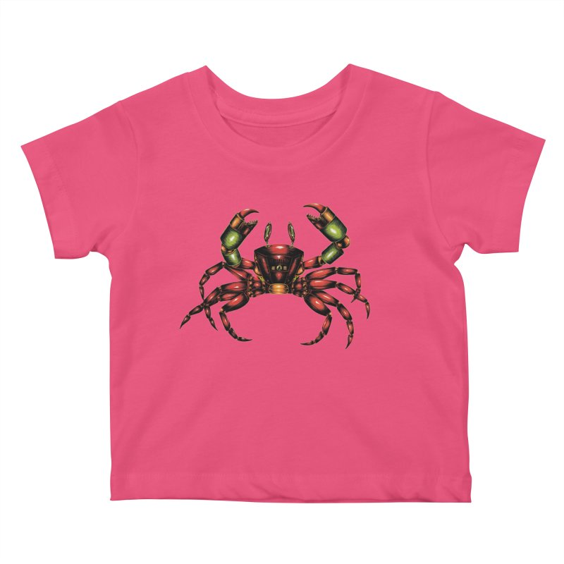 Robot Crab Kids Baby T-Shirt by Natalie McKean