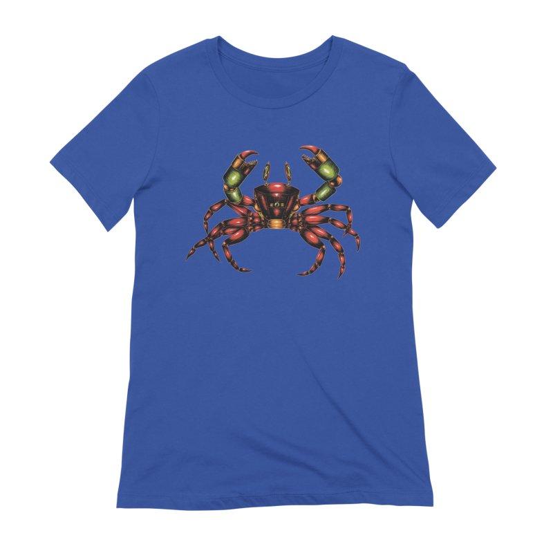 Robot Crab Women's T-Shirt by Natalie McKean