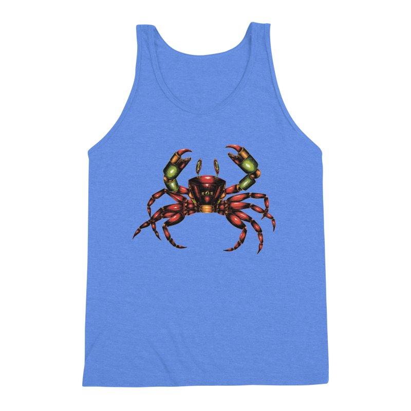 Robot Crab Men's Triblend Tank by Natalie McKean