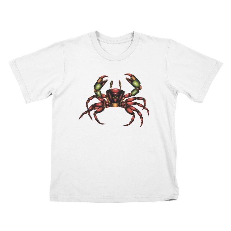 Robot Crab Kids T-Shirt by Natalie McKean