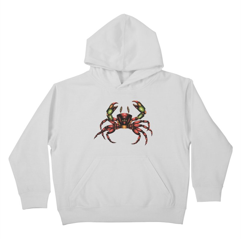 Robot Crab Kids Pullover Hoody by Natalie McKean