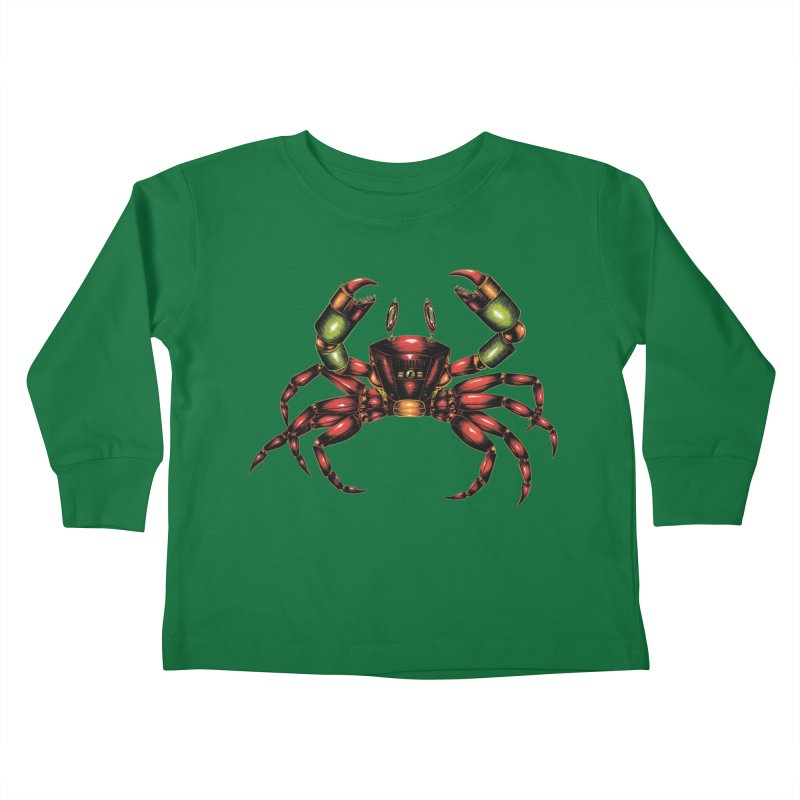 Robot Crab Kids Toddler Longsleeve T-Shirt by Natalie McKean
