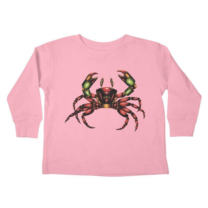 Robot Crab Kids Toddler Longsleeve T-Shirt by Natalie McKean