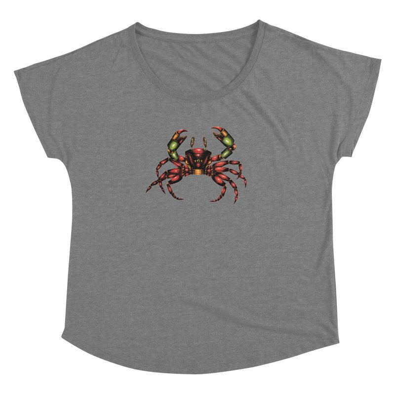 Robot Crab Women's Scoop Neck by Natalie McKean