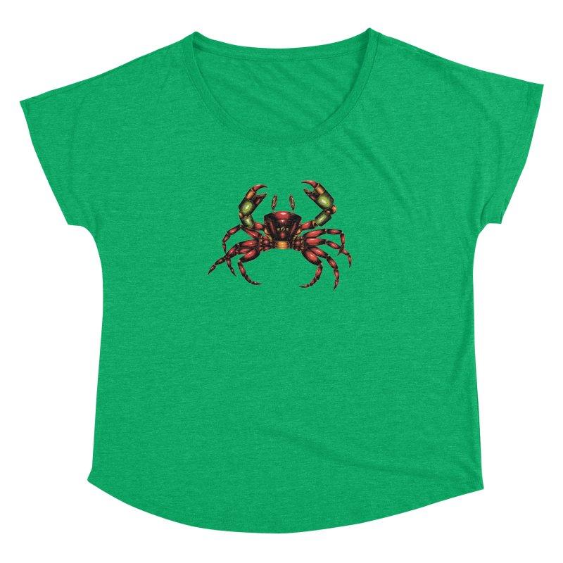 Robot Crab Women's Dolman Scoop Neck by Natalie McKean
