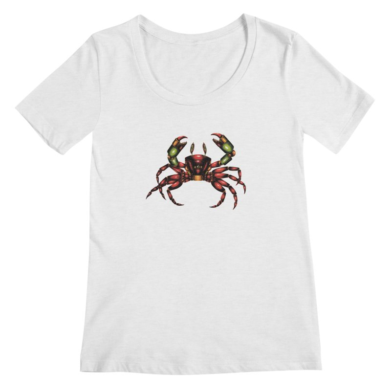 Robot Crab Women's Scoop Neck by Natalie McKean
