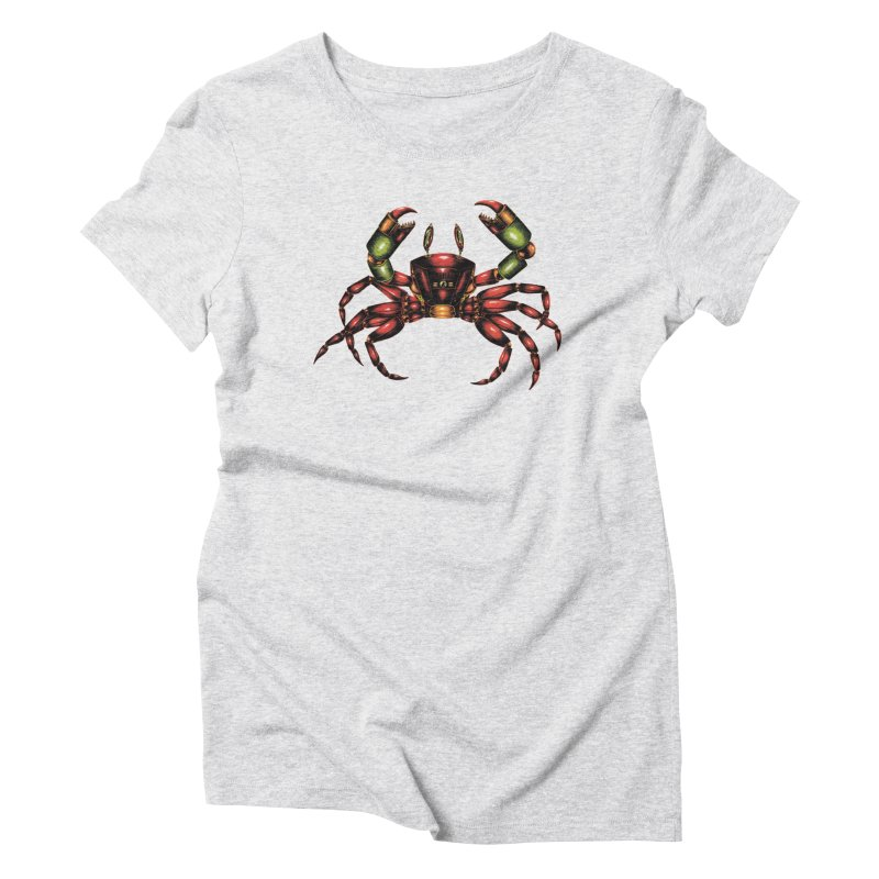 Robot Crab Women's Triblend T-Shirt by Natalie McKean