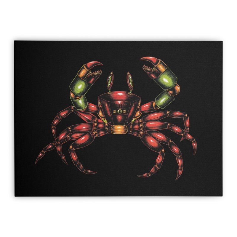 Robot Crab Home Stretched Canvas by Natalie McKean