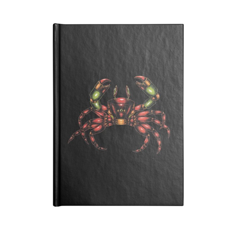 Robot Crab Accessories Blank Journal Notebook by Natalie McKean