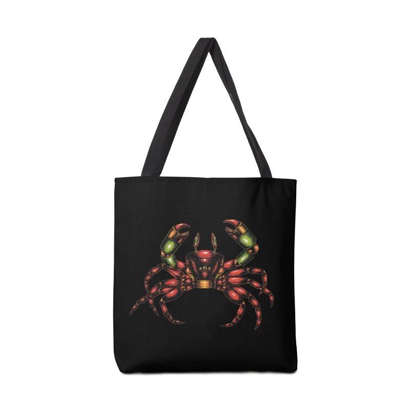 Robot Crab Accessories Bag by Natalie McKean