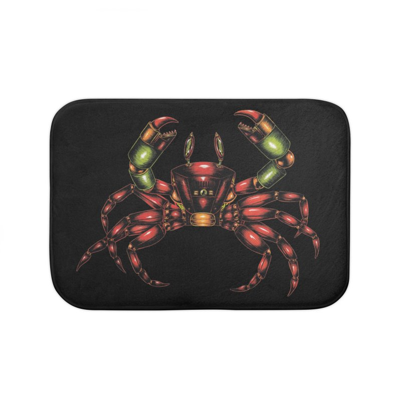Robot Crab Home Bath Mat by Natalie McKean
