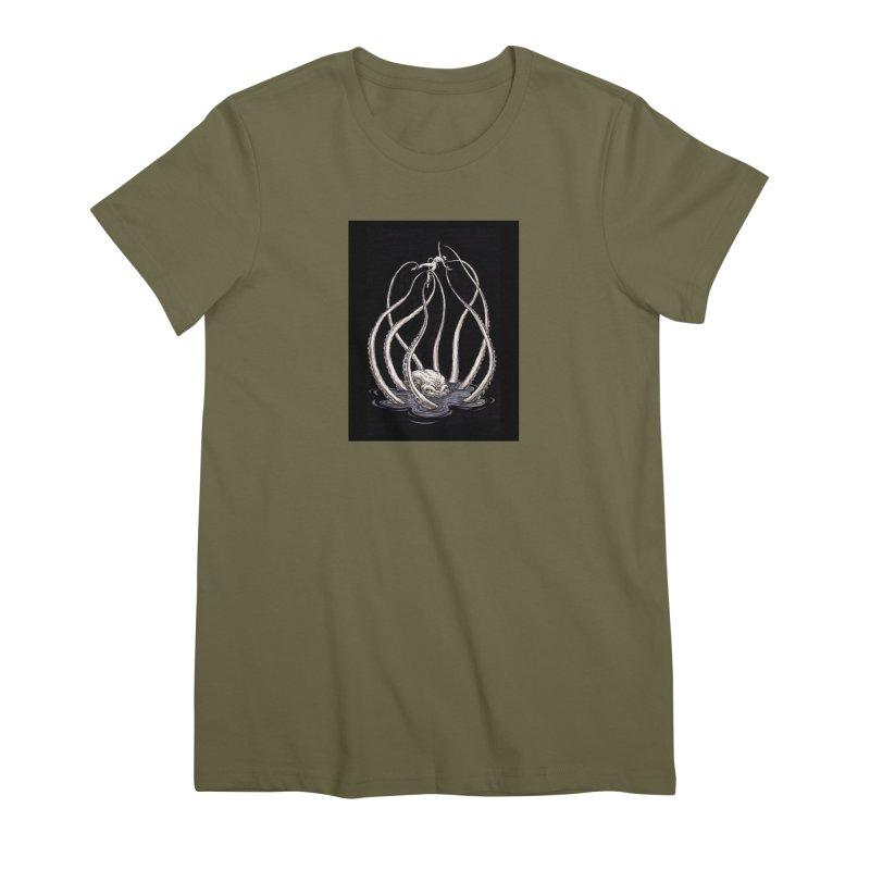 Tentacle Peril Women's Premium T-Shirt by Natalie McKean